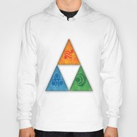triforce Hoodies featuring Zelda Triforce by Bradley Bailey