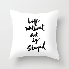 Brushletter sentiments no.1 Throw Pillow