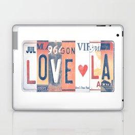 LOVE LA License Plate Art Laptop & iPad Skin