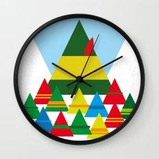 No699 My ELF minimal movie poster Wall Clock