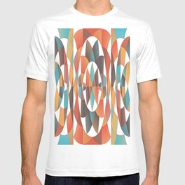 Colorful geometric abstract T-shirt