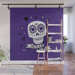 Sugar Rush Purple Heart Wall Mural