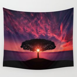 Sunset of Life Wall Tapestry