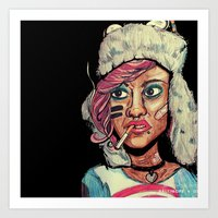 tank girl Art Prints featuring Tank Girl by N3RDS+INK