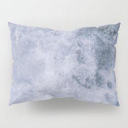 ice background. Textured ice blue frozen rink winter background Pillow Sham