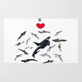 I love dolphins Rug
