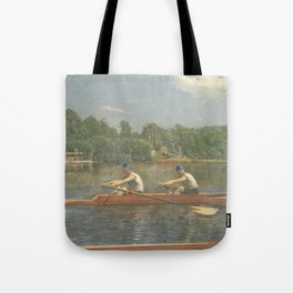 The Biglin Brothers Racing by Thomas Eakins Tote Bag