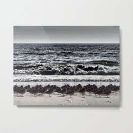 Winter's Waves Metal Print