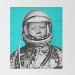 "JFK ASTRONAUT (or ""All Systems Are JFK"") Throw Blanket"