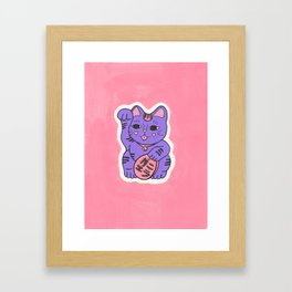 Manekineko 2 Framed Art Print