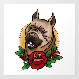 Mabari Love Art Print
