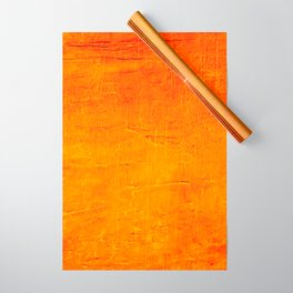 Orange Sunset Textured Acrylic Painting Wrapping Paper
