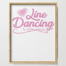 Line Dancing Serving Tray