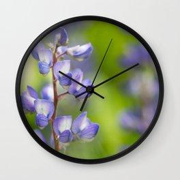 Yellowstone National Park - Silver Lupine Wall Clock
