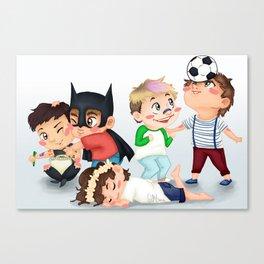 Chibi kids OT5 Canvas Print