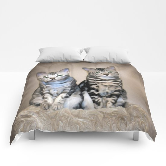 The Glare of the Silver Meowbles  Comforters