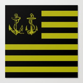 Anchor Nation Dark Canvas Print