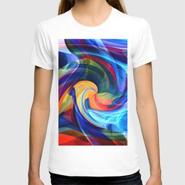 This Kiss Digital Abstract Art By Annie Zeno T-shirt