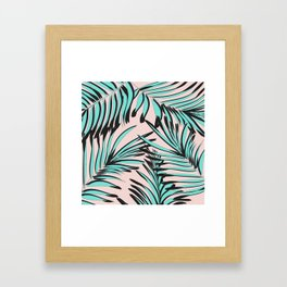 Tropical print Framed Art Print
