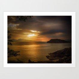 Sunset at Lismore Island Art Print