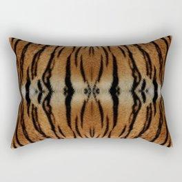 Tiger Stripes Pattern Rectangular Pillow