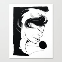 fitzgerald Canvas Prints featuring Ella Fitzgerald by breakfastjones