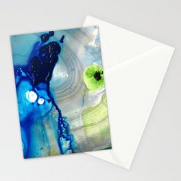 Blue Abstract Modern Art - Reborn - Sharon Cummings Stationery Cards