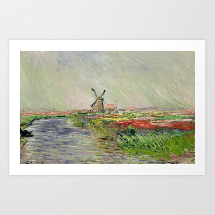 Monet, Tulip Field in Holland, 1886 Art Print