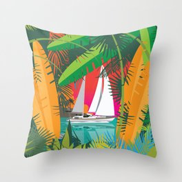 Sailing To Delos Revisited Throw Pillow