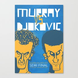 Murray vs Djokovic Canvas Print