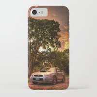 subaru iPhone & iPod Cases featuring Subaru Impreza WRX STi Sunset by Kozicki Photography
