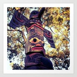 Knott's Berry Farm's Totem Pole Art Print