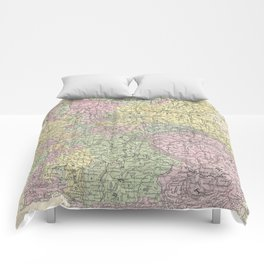 Vintage Map of Germany (1853)  Comforters