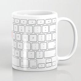KEYBOARD OF LOVE Coffee Mug