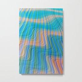 Topsy turvy waves Metal Print