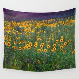 Sunflower Sunset Wall Tapestry