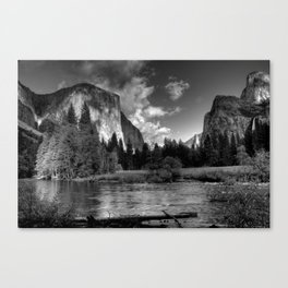 Merced River, Yosemite Valley, October 2010 Canvas Print