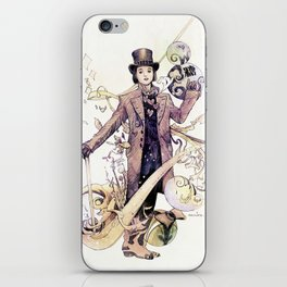 Willy Wonka and his chocolate factory iPhone Skin