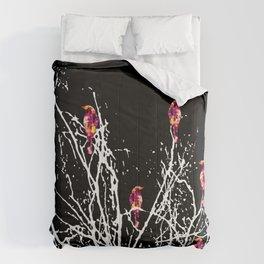 Red Birds Black Comforters