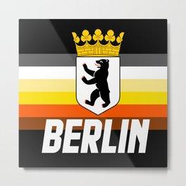 Berlin Bear Flag LGBT GAY BEARS PRIDE WEEK CSD Metal Print