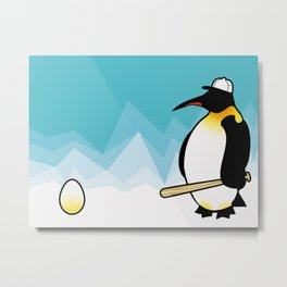 Lonesome Pinguin Metal Print