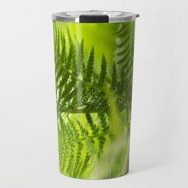 Green Fern Abstract Travel Mug