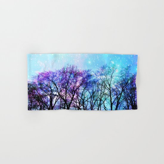 Black Trees Playful Pastels Space Hand & Bath Towel