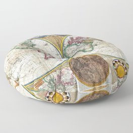 Old World Map print from 1794 Floor Pillow