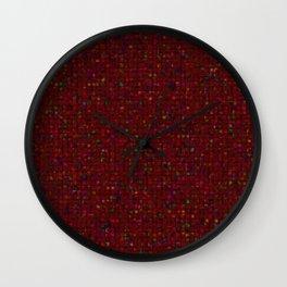 Antique Texture Garnet Wall Clock