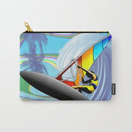 Windsurfer on Ocean Waves Carry-All Pouch