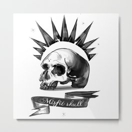 Chloe Price misfit skull Metal Print