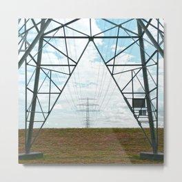 Electric landscape Metal Print