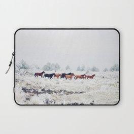 Winter Horse Herd Laptop Sleeve