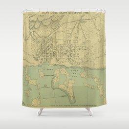 Vintage Map of Port Au Prince Haiti (1899) Shower Curtain